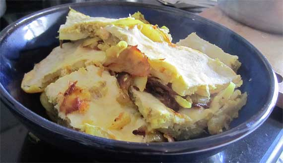 Parsi favourite - Eggs on Potatoes