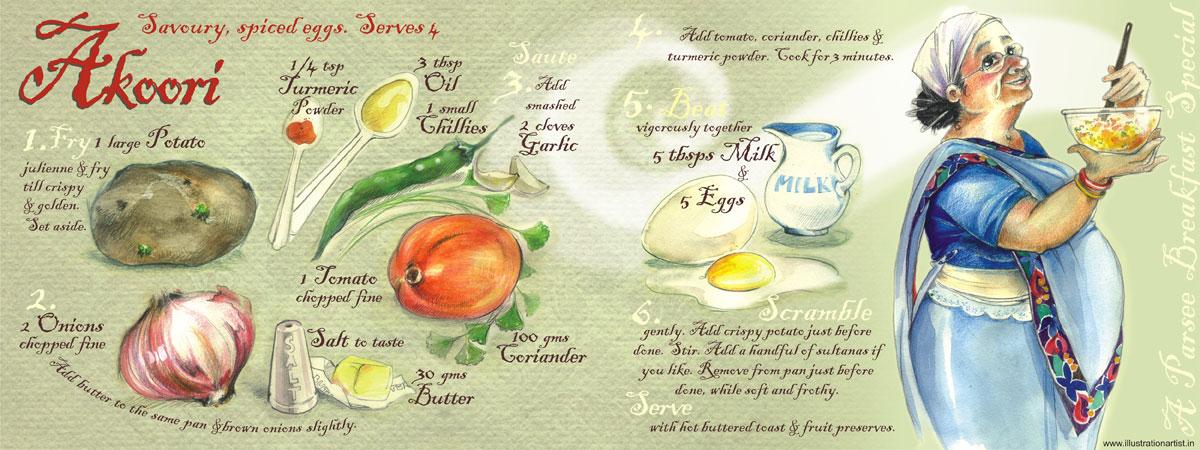Akoori savoury spicy eggs breakfast